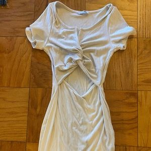Cut Out Short Sleeve Mini Dress